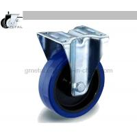 Best Industrial Castor, Top Plate Fixed, Blue Elastic / Black Nylon Wheel wholesale
