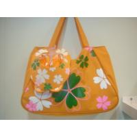 Best Beach Bag With Slippers and Visor Set wholesale