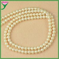 Best Hot Sale 6mm AAA grade loose white round beads strand natural fresh water pearl for sale wholesale