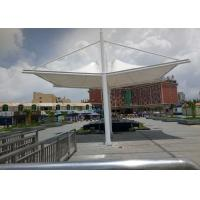 Best PVDF Sail Fabric Shade Structures Light Steel Tube Support Tension Buildings wholesale