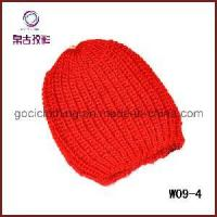 China Red Simple Crochet Hat (W09-4) on sale