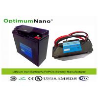Golf Trolley Electric LiFePO4 12V Lithium Battery with Non Toxic Materials OptimumNano