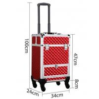 Best Large Capacity Aluminum Makeup Case With 4 Retractable Trays wholesale