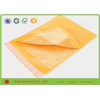 Yellow Padded Mailing Envelopes , Shockproof Anti Pressure Bubble Courier Packaging Bags