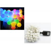 Buy cheap Multicolor / Blue LED Globe String Lights Cotton Ball Shape CE Approved from wholesalers