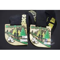 Best Trail Races Metal Custom Sports Medals, Marathon 5K 10k Medallions, Printing Or Sublimated Ribbon wholesale