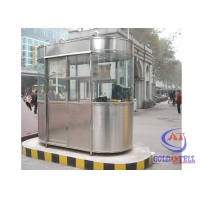 China Flexible Layout Steel 40Ft Prefab Security Kiosk House on sale