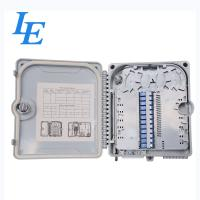 China Outdoor 12 Cores Fiber Optic Distribution Box PC ABS Plastic Material CE Approved on sale