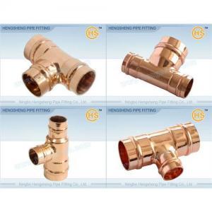 China Copper Reducing Tee C x C x C on sale