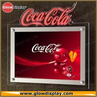 Best Crystal Acrylic Slim LED Sign Boards Wall Mounted Indoor For Advertising wholesale