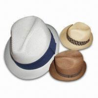Best Straw Fedora Hat for Women and Men, Available in Different Colors and Outside Bands wholesale