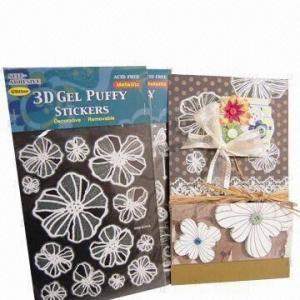Best 3D gel puffy stickers, metallic, glitter wholesale