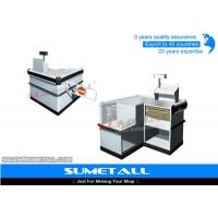 Best Multi Funtion Retail Store Cash Counter Reception Desk With Stainless Steel Countertops wholesale