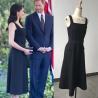 Buy cheap Elegant Brief Sleeveless Black Dress Same As Harry Princess Megan Chic Women from wholesalers