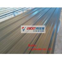 China Plastic roofing sheet roll forming machine / PVC corrugated roof sheet making machine on sale