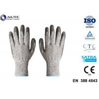 Best Elastic Seamless Knit Industrial Safety Hand Gloves 3 Gauge HPPE Liner PU Coated wholesale