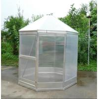 Best anodized strong aluminum greenhouse with single lockable door wholesale