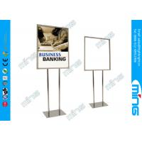China Mordern Double Sided Floor Stand Sign Holders Stainless Steel Poster Holder Stand on sale