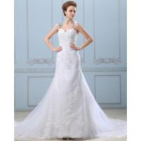 Best Lace Flower Strapless sweetheart neckline Wedding Gowns with open back wholesale