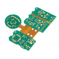 China Immersion Gold Rigid Flex Circuit Boards Green Pcb Board IPC Class3 Standard on sale