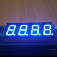 Best Instrument Panel 0.4 Inch 4 Digit 7 Segment Led Display Ultra Bright Blue Emitting Color wholesale