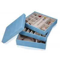 Best Composite leather wooden frame large jewellery storage box for rings earrings necklace wholesale