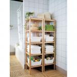 Best new design home use multi-functional bamboo bathroom towel shelves wholesale
