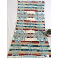China Double Looped Jacquard Beach Towel Colored Embroidered Three - Dimensional Pattern on sale