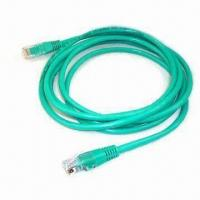 Best Green CAT 5e Ethernet Cable with UTP, PVC Insulation, Stranded, UL 444 Standard, 100MHz Frequency wholesale