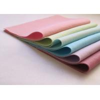 Best Pink Green Non Woven Polyester Felt Fabric Sheets Needle Punched Technics wholesale