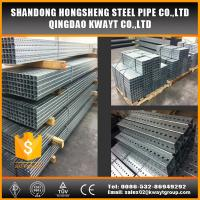 Best Pre-Galvanized square perforated steel tubing for sign post wholesale