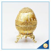 Best Crystal Faberge Egg Trinket Box Egg Jewelry Boxes wholesale