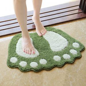 China Foot Print Bath Mats,Non-slip Bathroom Carpet,Mat Toilet Tapete Para Banheiro,Bathroom Rug Bath Pad Carpets on sale
