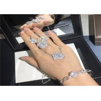 Best High End 18K Gold Diamond Jewelry , Piaget Rose Pendant Ring / Bangle / Earrings wholesale