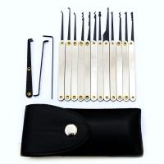 Good quality 12pcs Lock Picks Sets Stainless Handles w/ Bag Removing Key Set Lockpick Locksmith Tools Lock