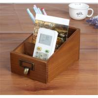 Best Three Compartment Wood Desk Organizer For Home Sundries Storage wholesale