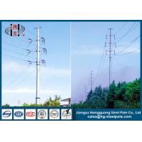 Buy cheap 110KV Tubular Steel Transmission Poles Certificated High Strength product