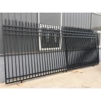 China Safety 2.1m Height Steel Picket Fence , Ornamental Steel Fencing Long Life on sale