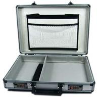 China Aluminum Metal Attache Case , Hard Metal Briefcase With Combination Lock on sale