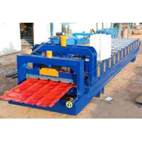 China Steel Roof Glazed Tile Roofing Sheet Forming Machine With 18 Forming Stations on sale