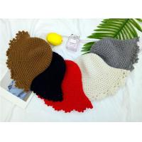 Best Korea new casual fashion lace basin hat Korean handmade knitted hat female autumn and winter folding fisherman hat wholesale