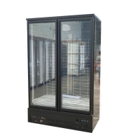 China Supermarket Vertical Freezer -18~-22°Frozen Food Glass Door Display Refrigerator on sale