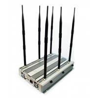 Buy cheap Adjustable High Power Desktop 2G 3G 4G Phone Jammer Up to 100 Meters 70W from wholesalers