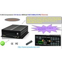 China RS485 / RS232 3G Mobile Vehicles DVR for Police  HDD With 8 Channels on sale