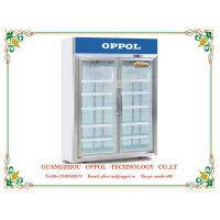 China OP-900 Double Glass Doors Upright Display Refrigerator for Pharmacy Storage on sale