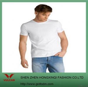 China 100% Organic Cotton Blank White T Shirt on sale