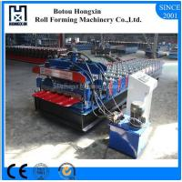 Best Trapezoidal Sheet Glazed Tile Roll Forming Machine Cr12 Cutting System wholesale