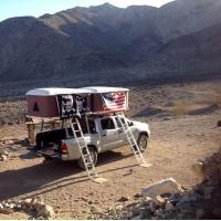 Best Double Big Foot Automatic Roof Tent , Jeep Hard Top Tent Streamlined Design wholesale