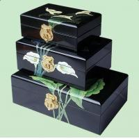 Best wooden jewelry box with alocasia wholesale