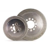 Cheap Round Edge Electroplated Diamond CBN Grinding Wheels ISO9001 Certification for sale